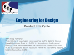 Product Life Cycle PowerPoint - Engineering Technology Pathways