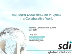 Managing Documentation Projects in a Collaborative World