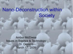 Nano-Deconstruction within Society