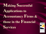 Successful Job Applications for Financial Sector