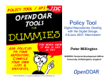 OpenDOAR Tools for Dummies: Policy Tool
