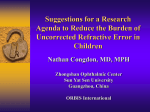 Prof Nathan Congdon_ The Refractive Error Research Agenda