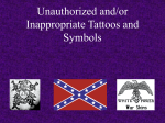 Unauthorized and/or inappropriate tattoos