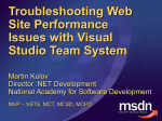 Troubleshooting Web Site Performance Issues with Visual Studio