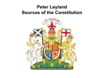 Peter Leyland Sources of the Constitution
