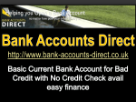 Basic Current Bank Account for Bad Credit with No
