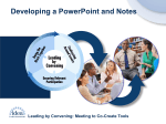 Developing a PowerPoint and Notes
