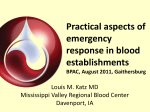 Practical Aspects of Emergency Response in Blood Establishments,