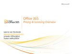 Office 365 for Enterprise - Pricing and Licensing Overview
