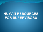 human resources for supervisors