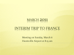 2011 Interim Trip to France