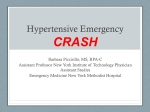 Hypertensive Crisis - 2012 CRASH Emergency Medicine Course