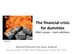 The financial crisis for dummies