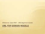 UML for Domain Models