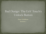 Bad Design: The Envy Touch*s Unlock Button