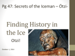 Finding History in the Ice-Otzi