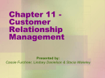 Chapter 11 - Customer Relationship Management - Martenson