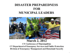 The Local Role in Emergency Management