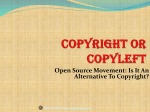 copyright or copyleft? - Inter University Centre for Intellectual