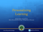 Personalizing Learning (MS PowerPoint)