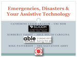 Emergencies, Disasters and Your Assistive Technology presentation