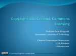Copyright and Creative Commons licensing