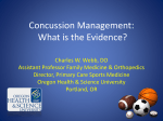 Concussion Management - Uniformed Services University of the