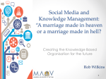 Social media and knowledge management - Robert Wilkins