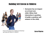 B Wharton - Building Self Esteem in Children