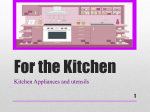 For the Kitchen PowerPoint Presentation