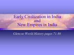 Early Civilization in India