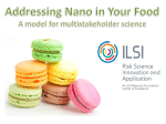 Nano in Your Food? - International Life Sciences Institute