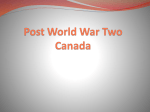 Post World War Two Canada