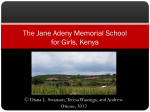 Jane Adeny Memorial School for Girls, Kenya