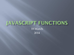 JavaScript I/O, subroutines and functions
