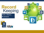 Record-keeping for a Small Business