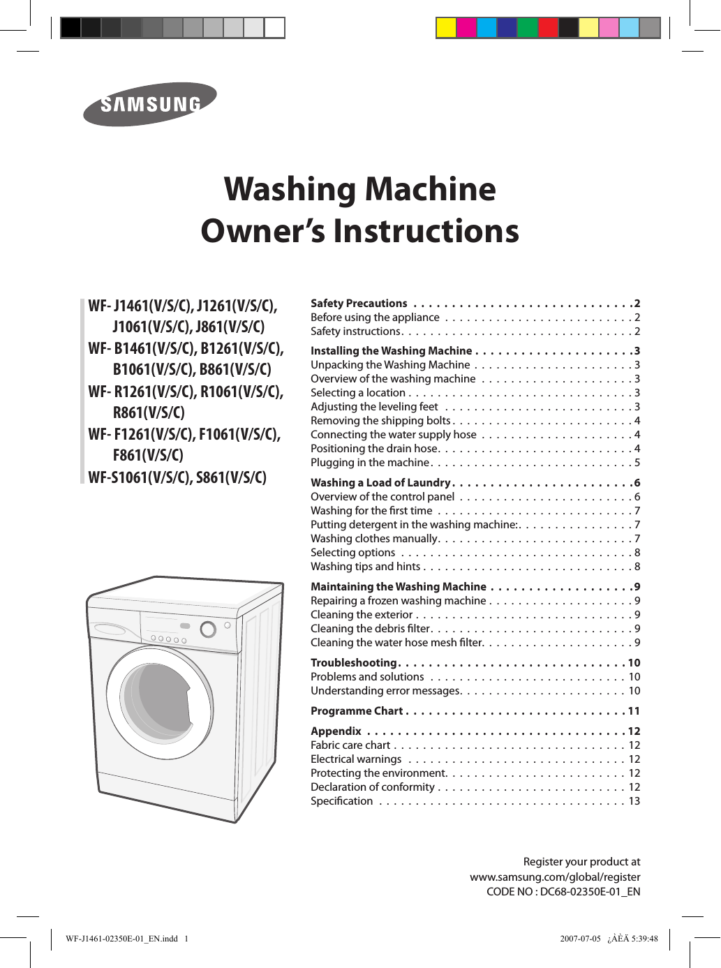 Samsung washing machine manual | ac power plugs and sockets.