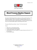Blood Pressure Monitor Request Form