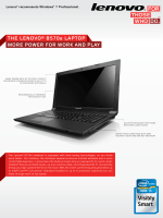 POWER FOR WORK AND PLAY ThE LENOvO® B570e LAPTOP