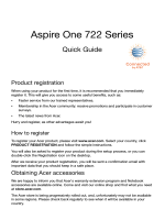 Aspire One 722 Series