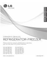 LG GA-B409 BVQA Fridge Freezer Operating Instructions User