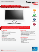 ThE LENOvO® C540 dESKTOP - Lenovo