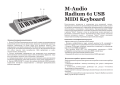 M-Audio Radium 61 USB MIDI Keyboard