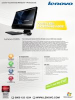 Lenovo ® recommends Windows ® 7 Professional.