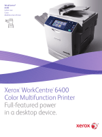 Xerox WorkCentre 6400 Color Multifunction Printer Full