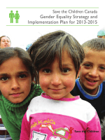 Gender Equality Strategy and Implementation Plan for 2013-2015