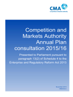 Competition and Markets Authority draft Annual Plan