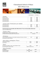 2015 Price List - Christchurch School of Music