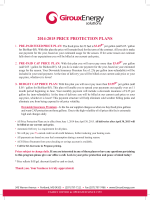 2014-2015 PRICE PROTECTION PLANS
