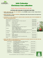 2015 Calendar Christmas tree collection - Brome